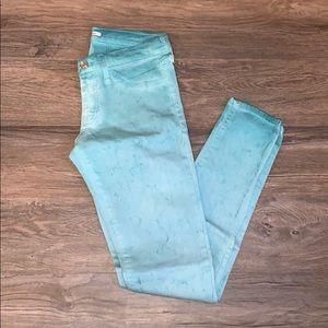 3/$15 FLYING MONKEY Teal Skinny Jeans